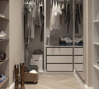 Image of clothes in a closet